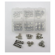 ALL in ONE Mixed Antique Silver Tibetan Style Spacer Beads Charms Jewellery Findings