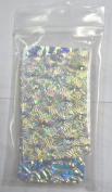 0.1kg Dichroic Scrap Thin Clear Texture Glass Assortment Coe90 Fusible DC137