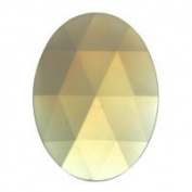 Stained Glass Jewels - 40x30mm Oval Faceted - Opal