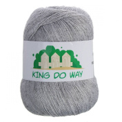 KING DO WAY Soft Warm Knitting Knitted Wool Cashmere Handcraft Yarn Worsted Sweater light grey