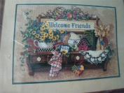 Welcome Friends Shelf SUNSET Needlepoint Kit 14x 10