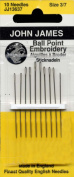Colonial Needle John James Embroidery/Crewel Ball Point Assorted Needles, Size 3/7