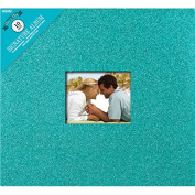 Colorbok Glitter Post Bound Album, 30cm by 30cm , Teal