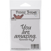 Riley & Company Funny Bones Cling Mounted Stamp 6.4cm x 4.4cm -You Are Amazing