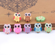 Echolife Set of 10 Colourful Cartoon Owl Shape Pushpins Cute Thumbtacks Decorative for Home and Office
