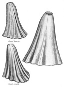 1903 Edwardian Era Trumpet Skirt Pattern