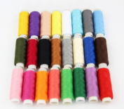 RayLineDo® 24 Colour Spools Finest Quality Sewing All Purpose 100% Pure Cotton Thread Reel