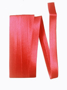 Bias Satin Tape ~ 1.3cm Wide Double-fold Bias Tape ~ Apple Red ~ Poly Cotton (3 Yards / Pack) Set of 4