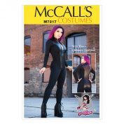 McCall's Patterns M7217 Misses' Zippered Bodysuit by Yaya Han Sewing Template, E5