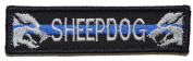 Sheepdog With Thin Blue Line - 3.75x1 Rear Hat Patch - Black