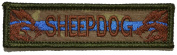 Sheepdog With Thin Blue Line - 3.75x1 Rear Hat Patch