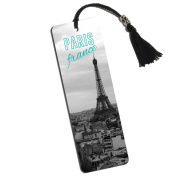 Paris France Eiffel Tower Printed Bookmark with Tassel