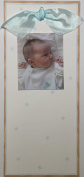 Tall Baby Boys Photo Card Birth Announcement