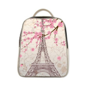 2015 New Arrival Kid's School Bag /PU Leather/Backpack With Paris Eiffel Tower Theme school backpacks