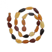 Natural Baltic Amber Teething Necklace in Multi Colour (Unpolished) 28cm - 29cm