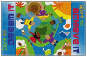 Dare To Dream Colourful Bright Kids Area Rugs