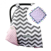 Car Seat Canopy by CRAZZIE with Matching Soft TAGZ Blanket