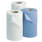 "18 Blue Wiper Rolls - Bodyguards Quality Strong Paper Wiper Rolls. 18 x 10"" 2ply Soft Strong Tear Resistant Wiper Rolls. (25cm x 40cm). 108 Perforated Sheets Per Roll. Best Price Rolls. by PBS Medicare"