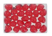 Box of 24 oil bath pearls - hearth shaped - flagrance strawberry