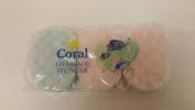 6 x Packs Of 3 Coral Bath Massage Sponges Multi Colours 18 Sponges In Total