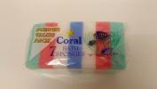 6 x Packs Coral Bath Sponges Packs Of 7 12x8x3CM *42 Sponges In Total*