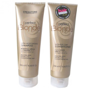 Creightons Caring for Colour Perfect Blonde Extra Moisturising Shampoo 250ml and Creightons Caring for Colour Blonde Intensive Care Conditioner 250ml Duo Set with Creatine