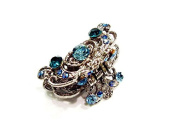 rougecaramel - Crab Metal and Crystal Hair Clip Hair Accessories - Blue