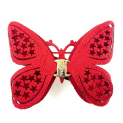 rougecaramel - Hair Butterfly Clip Hair Accessories - Red