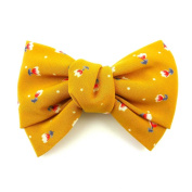 rougecaramel Moutard - Hair Accessories - Floral Print Bow Hair Clip - Yellow