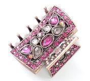 rougecaramel - Crab Metal Copper and Crystal Hair Clip Hair Accessories - Pink