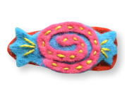 Felt Applique Childrens Hair Barrette/Hair Clip - 4 cm