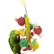 CrewPros(TM)Pet Toys Parrot Toy Bird Bell Ball For Parakeet Cockatiel Chew Fun Cage New