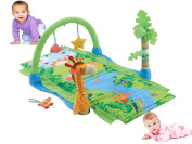 Baby Tropical Rain Forest Multi Play Activity Gym Soft Playmat Basket Toys