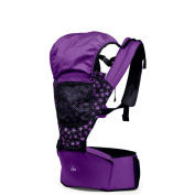 Hosee Baby Carrier Sling Wrap with Detachable Baby Carrier Hip Seat and Windsheild Purple