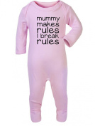 Mummy makes rules, I break rules Baby Rompersuit