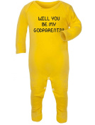 Will you be my godparents. Baby Rompersuit