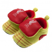 Baby Footwear - Official Liverpool FC Baby Neon Crib Boots (6 - 9 Months) - Novelty Baby Football Gift Ideas