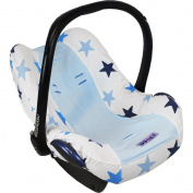 Dooky Infant Car Seat Cover Universal Stylish Protector for Baby Carrier Pink Stars
