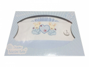 Bedding Set Baby Cot Bed/BEBE, Linens Bébé- Rabbit Heart Box - Birth Gift Great Designs and Colours, Navy Blue