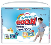 GOO.N Premium Quality Japanese Nappies Nappies for Boys, BIG Size XXL (13-25 kg), 28 Nappies