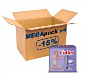 Mega Pack Cuties by First Quality® 124 Nappies, 10/