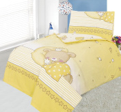 Love2Sleep COT DUVET COVER WITH PILLOWCASE - SUPERIOR NATURAL COTTON FLANNELETTE 100 X 120 CM - SLEEPY PRINCESS