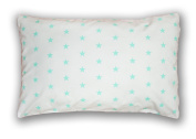 Decorative Pillow Cushion Cover Pillow 40 x 60 cm Stars Turquoise on White