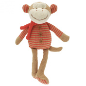 Large Mikey Monkey, traditional knitted cuddly monkey from the Walton nursery collection, perfect new born baby gift.