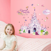 Cartoon Castle Wall Decal Home Sticker Paper Removable Living Dinning Room Bedroom Kitchen Art Picture Murals DIY Stick Girls Boys kids Nursery Baby Playroom Decoration