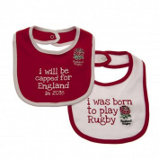 Baby Feeding Bibs - Official England RFU Baby Bibs (2 Pack) - Novelty Baby Rugby Gift Ideas