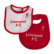 Baby Feeding Bibs - Official Liverpool FC Baby Bibs (2 Pack) - Novelty Baby Football Gift Ideas