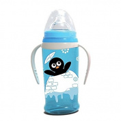 LORELLI SIPPER WITH SOFT SPOUT WITH TWO HANDLES PENGUIN BLUE sipper baby child