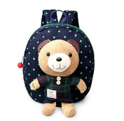 SPROUT®--Baby Toddler Safety Harness Backpack Lovely Bear With Rein Strap Walker-BLUE