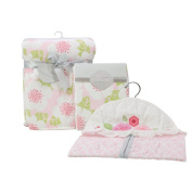 Nurture Garden District Nursery Plush Blanket, Changing Pad Cover and Nappy Stacker Set